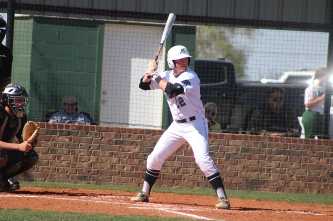 Hunter Hughes hitting in a previous game